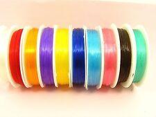 1 Spool x 0.6MM Stretch ELASTIC Magic BEADING String Thread CORD ~ Pick Color ~