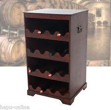 BODEGA 1 WEINSCHRANK für 16 Flaschen WEINREGAL SERVIERWAGEN HOLZ BAR REGAL 36635