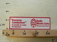 STICKER,DECAL RADIO MONTE CARLO NOUVEAU CONDUCTEUR RMC