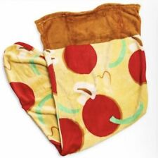 "Super Soft Plush Fleece Pizza Slice Blanket 22"" x 52"" Inches w"