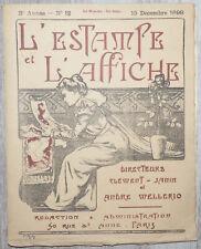 L'Estampe et l'affiche - 15 Déc. 1899 Clément - Janin André Mellerio  Bouyer