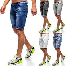 Jeanshose Shorts Jeans Bermudas Kurzhose Denim Kurze Cargo Herren