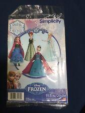 Simplicity S0734 1234 Frozen Costume Pattern Elsa & Anna dress for dolls new!