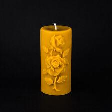 """Pure Beeswax - Medium Rose Pillar Candle (3""""x6.5"""")"""