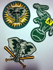 1980-90s Oakland Athletics Sleeve Patches - Lot of 3 Patches