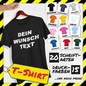 T-Shirt mit Druck Tshirt bedrucken T Shirt gestalten Wunschtext Wunschdruck Text