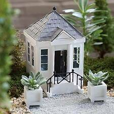 Miniature Dollhouse FAIRY GARDEN ~ Greek Revival Home ~ NEW