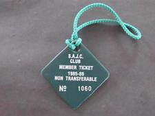 Horse Racing SAJC Member Ticket Badge 1985 86
