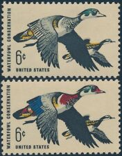 """#1362b """"WATERFOWL CONSERVATION"""" RED/DARK BLUE OMITTED MAJOR ERROR, XF NH BP1683"""