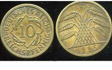 ALLEMAGNE 10  reichspfennig  1925 E