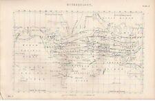 1868 líneas de meteorología impresión isotérmico isogeothermal