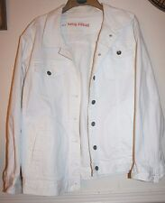 Being Casual womens white denim jacket size 22