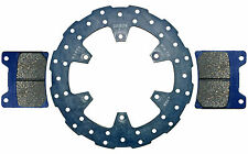 Yamaha XV1000 Virago front brake disc & pads, L or R (86-89) high grade - wavy