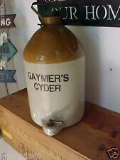 Stoneware Jug Gaymer's Cyder antique cider jug w/ spigot RARE F or T MAKERS MARK