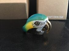 New Blue & Gold Arara Macaw Parrot Bird Ring by Good After Nine w/box US size 6