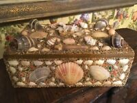 Sea Shell Art Shellwork Box Maritime Sailor Souvenir Handmade
