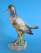 bécasse BARBOTINE MAJOLICA oiseau DLG MASSIER ? bird statue sculpture pottery