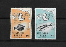 E8535 GB SUMMER ISLES 1970 FISH MARINE LIFE MAPS SET STAMPS