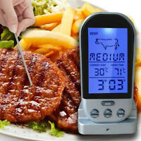 Wireless LCD Remote Thermometer For BBQ Grill Meat Kitchen Oven Food Cook Meter.