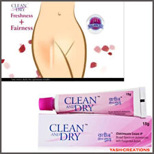 4 Pack X Clean and Dry Intimate Cream 15 gm - pH Balanced Cream for Vaginal Area