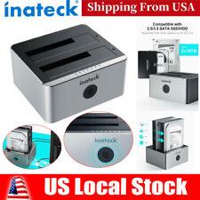 Inateck Aluminum USB 3.0 Dual Bay Hard Drive SATA Docking Station Offline Clone