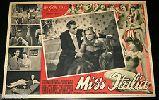 fotobusta film MISS ITALIA Constance Dowling Mino Doro Gina Lollobrigida 1950