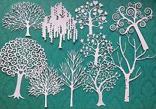 Confezione di misto ALBERO Die-Tagli (Bianco) - 10 disegni inclusi.