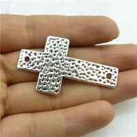 20216 15pcs Totem Silver Alloy Faith Jesus Figure Religious Style Spacer Beads