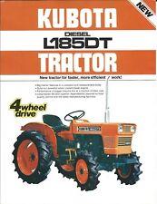 Equipment Brochure - Kubota - L185DT - Diesel Tractor - Farm - c1970's (E4307)