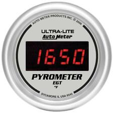 Auto Meter Boost/Pyrometer Gauge 6545; Ultra-Lite Digital Kit 2000°F 2-1/16""