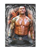 WWE Randy Orton #24 2015 Topps Undisputed Black Parallel Base Card SN 27 of 99