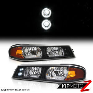 L+R Black/Amber Corner Bumper Parking Light Signal Lamp 04-2012 CHevy Colorado