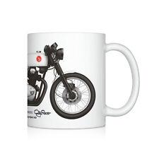 Honda CB350 cafe racer motorcycle illustration Coffee Mug