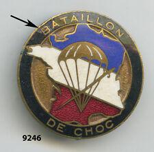 Insigne parachutiste, 1  Bon.  de  CHOC  , ( bordure noire )