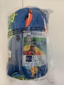 Big One Disney Pixar The Incredible Plush Throw Blanket 5' x 6 ft - Blue Orange