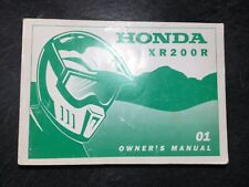 2001 Honda XR200R Motorcycle Owner's Operation & Maintenance OEM Manual Dirtbike