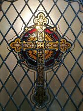 More details for a stunning antique victorian reclaimed ex-church stained glass window ref m1534