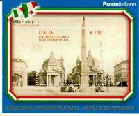 REPUBBLICA 2011 VARIETA' 150° UNITA' ITALIA CONGIUNTA VATICANO JOINT ISSUE LUSSO