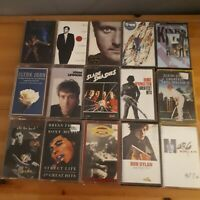 Classic Rock Cassette Job Lot Dylan Roxy Music Lennon Kinks Elton John Slade...