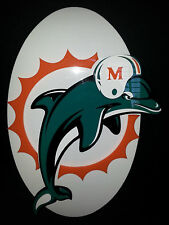 Miami Dolphins Plastic Logo Wall Deal Decorative NFL Novelty Black 18X11.5