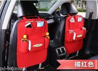 1 Auto Rücksitztasche Rücksitz tasche Rückenlehnentasche Organizer 7Gitter Rot