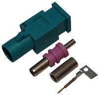 Connecteur fiche prise FAKRA mâle vert pour câble RG174