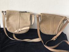 Coach  Lot Of Two Beige Tan Leather Small Crossbody Handbag