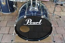 """GO DOUBLE!!! PEARL 22"""" EXPORT GUN METAL BLUE BASS DRUM for YOUR DRUM SET! #V298"""