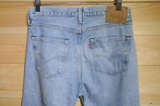 Levi's 501CT Denim Jeans Stonewash Blue 32x30 Distressed Ripped