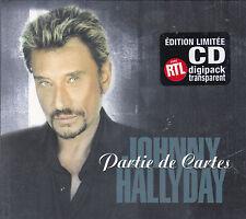 CD DIGIPACK TRANSPARENT 2T JOHNNY HALLYDAY PARTIE DE CARTE EDIT. LIMITÉE NEUF