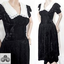 Vintage 70s Gunne Sax Dress Jessica McClintock Gothic Prairie Lolita Grunge 6 XS