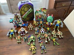Huge Teenage Mutant Ninja Turtle Mixed Lot of 24 Figures & Accessories All Years