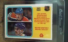1982-83 OPC #237 Wayne Gretzky/Michel Goulet Shorthanded Goal Leaders NM/MT