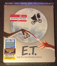 ET Blu-Ray SteelBook Target Exclusive Extra-Terrestrial Anniversary New OOP Rare